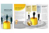 Leadership Training Progress Brochure — Stock Vector