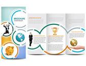 Cirkel broschyr — Stockvektor