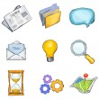 Royalty-Free Stock Vektorfiler: Icon set