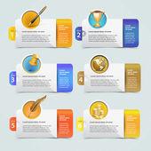 Web banner template design — Stock Vector