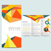 Colorfull business brochure — Stock Vector