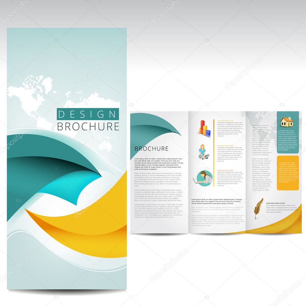 Brochure design stock vector timea 33144779 for Typography brochure design