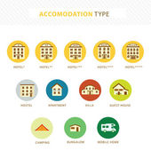 Accomodations — Stock Vector