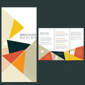 Vector Brochure Layout — Stock Vector