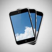 Tablet pc on gray background — Stockfoto