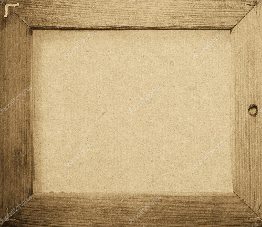 Wood Frame Texture : Grunge wood frame background, vintage paper texture — Stock Photo ...
