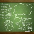 Close up of math formulas on a blackboard — Stock Photo #25390361