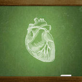 School blackboard — Stock Photo