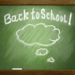 Sketch on school blackboard with bubble sketch — Stock Photo