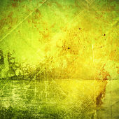 Green and yellow paper texture — Stock Photo