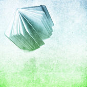 Grunge paper texture with book — Stock Photo