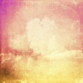 Pink and yellow vintage sky background — Stock Photo