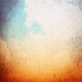 Blue and orange grunge sky texture, vintage background — Stock Photo