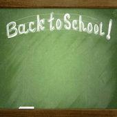 "School blackboard with ""Back to school"" sketch — Stock Photo"