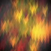 Retro mozaika zelené a žluté pozadí — Stock fotografie