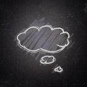 School blackboard with bubble sketch — Stock Photo