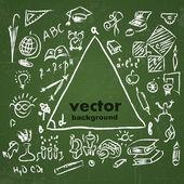 School sketches on blackboard — Stock Vector