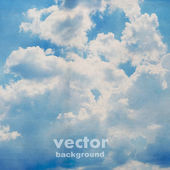 Clouds on textured background — Stock Vector