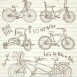 Vintage bicycle set — Vector de stock #12859995