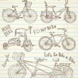 Vintage bicycle set — Image vectorielle