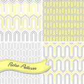 A set of seamless retro patterns. — Stock Vector