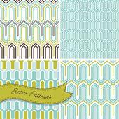 A set of seamless retro patterns. — Stok Vektör