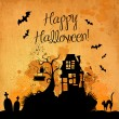 Halloween grunge vector background - Stock Vector