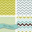 A set of seamless retro Zig zag patterns — Stock Vector #12865156