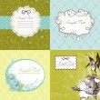 Set of cute floral frames — Stock Vector