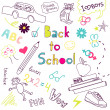 Stock Vector: Back to school doodles