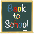 Back to school lettering - Stock Vector