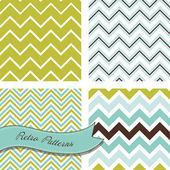 A set of seamless retro Zig zag patterns — Vecteur
