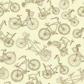 Naadloze fiets achtergrond — Stockvector