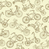 Seamless bicycle background — Vector de stock