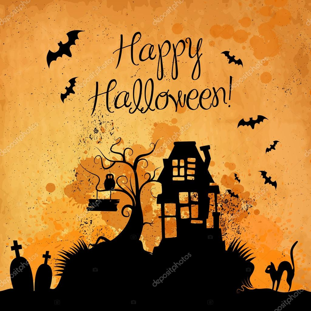 Halloween grunge vector background  Stockvectorbeeld #12864757