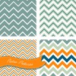 A set of seamless retro Zig zag patterns — Stock Vector #12871209