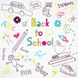 Back to school doodles — Vector de stock