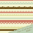 Set of hand-drawn Lace Paper Punch Borders — Stock Vector #12871954