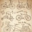 Vintage bicycle set - Image vectorielle