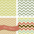 a set of seamless retro zig zag patterns — Stock Vector #12873322