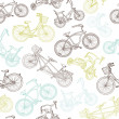 Seamless bicycle background — Stock Vector #12873541