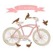 Ich liebe mein fahrrad! — Stockvektor