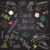 Back to school doodles — Stock Vector