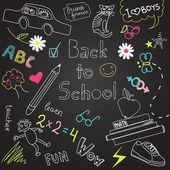 Back to school doodles — Stock Vector