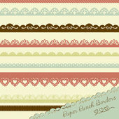 Set of hand-drawn Lace Paper Punch Borders — Vetorial Stock