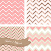 A set of seamless retro Zig zag patterns — Vector de stock