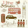 London doodles - Vettoriali Stock 