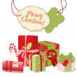 Christmas gifts in retro style. — Stock Vector