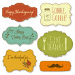 Happy Thanksgiving frames — Stock Vector