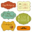 Happy Thanksgiving frames - Image vectorielle
